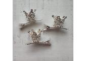 Корона на заколке серебро