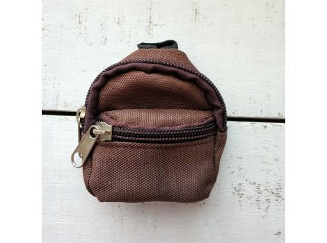Рюкзак для кукол коричневый