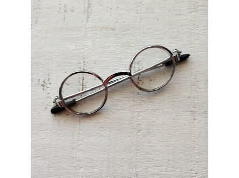 Очки для кукол 6 см серебро