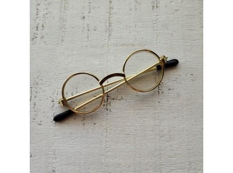 Очки для кукол 6 см золото