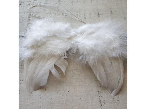 Крылья для кукол перьевые большие белые
