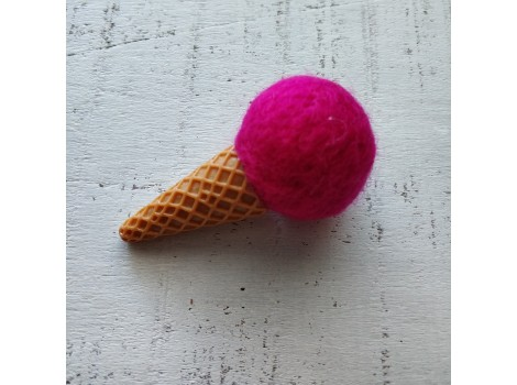 Мороженое большое фуксия