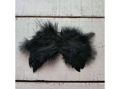 Крылья для кукол перьевые малые черные