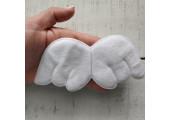 Крылья для кукол из плюша большие белые