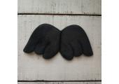 Крылья для кукол из плюша большие черные