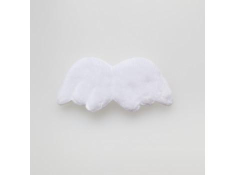 Крылья для кукол из плюша средние белые