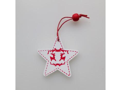 Деревянная звезда белая