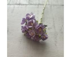 Цветочек вишни 1.5см светло-сиреневый