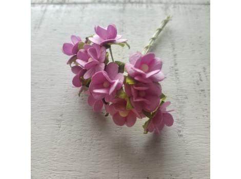 Цветочек вишни 1.5см розово-сиреневый