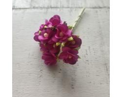 Цветочек вишни 1.5см розово-фиолетовый