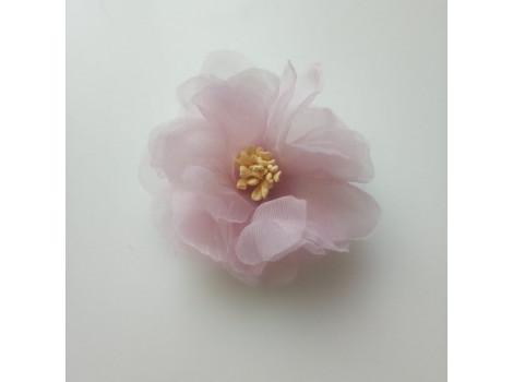 Цветочек из органзы крупный нежно-лиловый