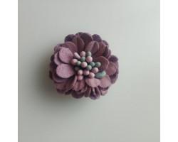 Цветочек замшевый лиловый