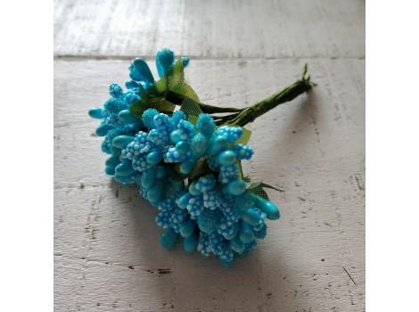 Букет тычинок с листиками голубой