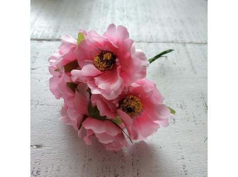 Букет маков розовый
