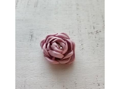 Цветочек атласная розочка 3 см лавандовая