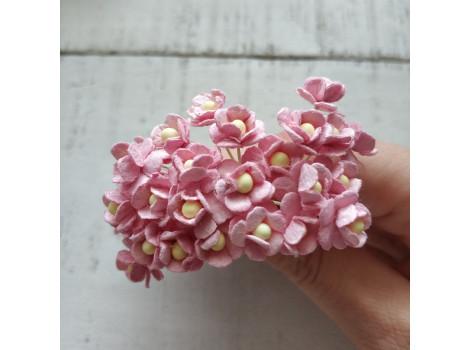 Цветочек вишни мини розовый