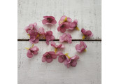 Цветочек мелкий 2 см фиолетово-розовый