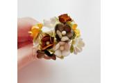 Цветочки вишни средние коричневый микс 10 шт