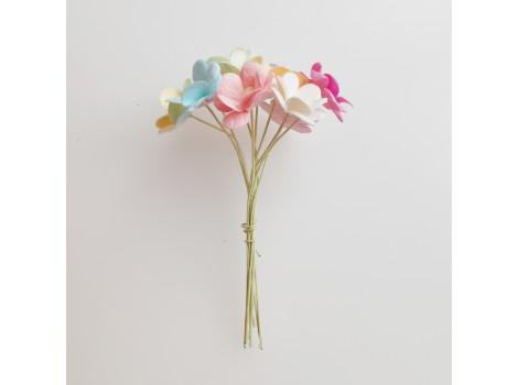 Цветочки вишни средние микс Пастель 10 шт