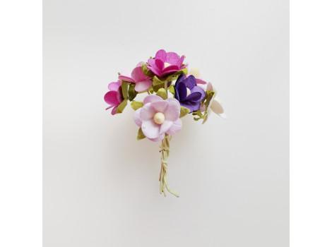 Цветочки вишни средние сиреневый микс 10 шт