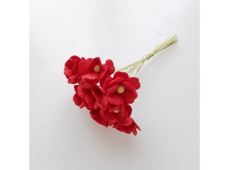Цветочек вишни 1.5см красный