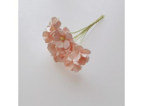 Цветочек вишни 1.5см светлый розово-персиковый