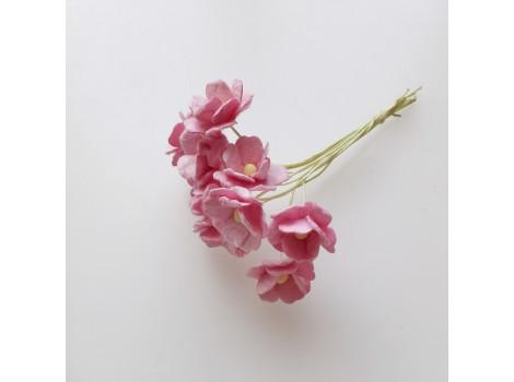 Цветочек вишни 1.5см розовый