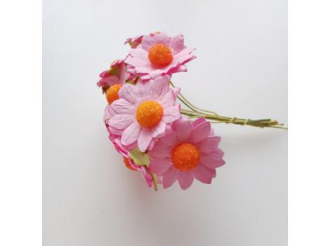 Цветочек ромашка 2.5см розовый