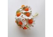 Цветочек ромашка 2.5см белый