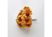 Цветочек ромашка 2.5см оранжевый