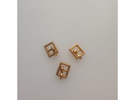 Пряжка 10*6 мм квадратная золото