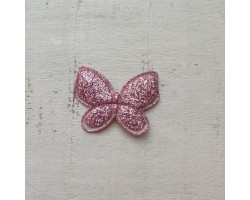 Патч бабочка розово-фиолетовая