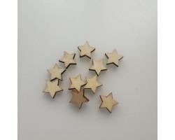 Деревянные звездочки 1 см