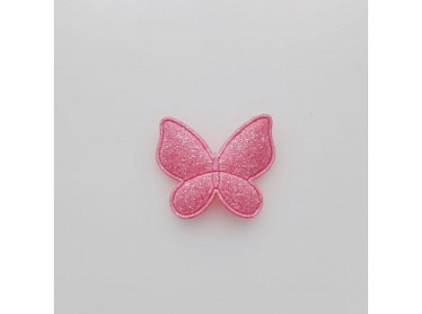 Патч бабочка персиково-розовый