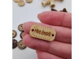 Деревянные бирки Handmade 2.4*1.2 см