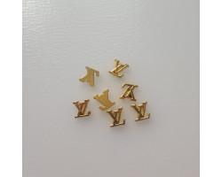 Значок логотип Louis Vuitton золото