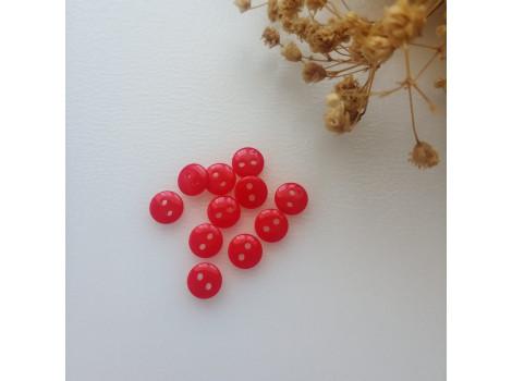 Пуговица 8 мм красная