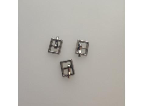 Пряжка 10*6 мм квадратная серебро