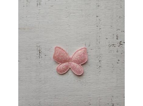 Патч бабочка розовая