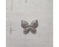 Патч бабочка серебристая