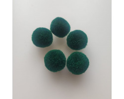 Мини-помпон для декора темно-зеленый