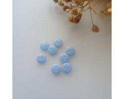Пуговица 8 мм голубая
