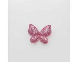 Патч бабочка темно-розовый