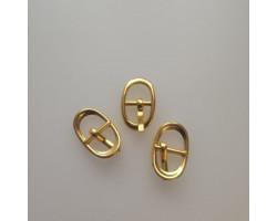 Пряжка 17*11 мм овальная золото