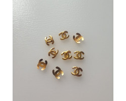 Значок логотип Chanel золото