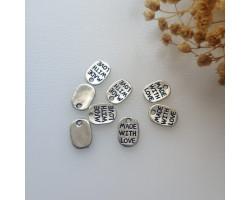 Подвеска медальон made with love 0.9*1.1 см