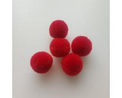 Мини-помпон для декора красный