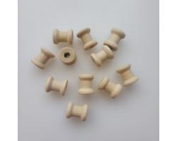 Деревянные катушки для декора 1.4*1.2 см