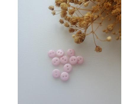 Пуговица 8 мм розовая