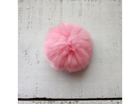 Помпон меховой розовый